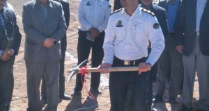 همزمان با هفته دولت پروژه ی احداث ساختمان پلیس راه تربت حیدریه کلنگ زنی شد