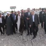نماینده هیات وزیران از مجتمع بزرگ فولاد رخ تربت حیدریه دیدن کرد