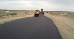 اجرای روکش آسفالت ۷ کیلومتری راه  روستای شمس آباد