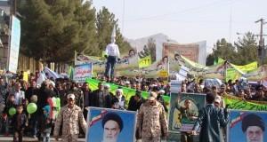 راهپیمایی باشکوه مردم شهرستان زاوه در ۲۲ بهمن