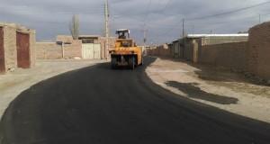 بیش از ۱۴کیلومتر روکش آسفالت ۳ روستای شهرستان تربت حیدریه