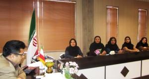 تجلیل ازبانوان فعال اداره ورزش  وجوانان تربت حیدریه در هفته گرامیداشت مقام زن