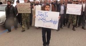 راهپیمایی اعتراض آمیز نمازگزاران مه ولات در محکومیت اهانت به پیامبر خوبی ها